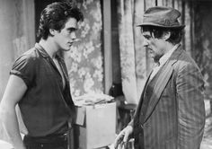 Matt Dillon and Dennis Hopper in Rumble Fish directed by Francis Ford Coppola, 1983