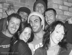 Jai Courtney with the cast of Spartacus