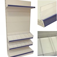 Compartmentalise your display shelves with our easy fit shelf risers and shelf dividers. Hardwearing plastic shelving accessories that are compatible many shop shelving systems such as  Tegometall shelving system and Evolve shelving.  #shelfdivider #shelfriser #shelving #plasticshelfedge #shelvingaccessories