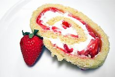 Strawberry Cheesecake Jelly Roll Cake