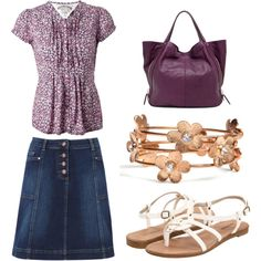 Purple summer outing outfit minus the sandals