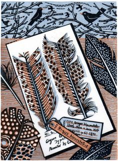Angie Lewin - Drawing at the Museum from St Jude's Print makers website