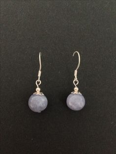 Aquamarin and sterling silver earrings