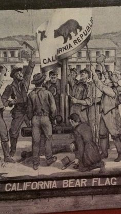 Raising of the original CA bear flag in Sonoma 1846! Listen to the whole fabulous story up on our website.