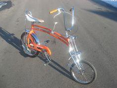 "Schwinn Stingray Orange Krate / Swing Bike custom hybrid! Built by http://www.ratrodbikes.com member ""bikebuilder"".  So awesome."