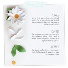 Easy Paper Punch Flowers | Damask Love Blog