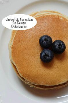 Glutenfrei backen und kochen zu Ostern? Gar nicht so schwer! Hier sind Tipps für glutenfreie Pancakes für Deinen Osterbrunch! #glutenfrei #Pancakes #Ostern #Osterbrunch Pancakes, Breakfast, Food, Gluten Free Pancakes, Gluten Free Recipes, Kochen, Easter Food, Marble Cake, Food And Drinks