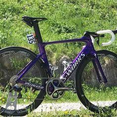 Here's @FernandoGaviriaRendon custom paint #Specialized Venge Vias ahead of today's @GirodItalia stage... and what do you reckon for his Violet 's ⚏⚎⚍⚌⚏⚎⚍⚌⚏⚎⚍⚌⚏⚎⚍⚌⚏⚎⚍⚌ [% #t0pbikes ] FightforPink ▪#GirodItalia 2017 | @Giroditalia | #Giro100 ▪#PicoftheDay #roadBike #raceBike #roadCycling▪ ▪#instabike #instacycling #instaPhoto #instaDaily ▪ #like4like #PictureoftheDay #PhotooftheDay #Cyclist #cycle #cycling #ciclismo #bici #bicicleta #cyclisme #biking #TimeTrial #roadCyclin...