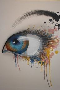 cool water color painting of an eye    ...BTW,Please Check this out:  http://artcaffeine.imobileappsys.com