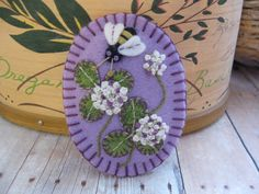 All in Clover Brooch in Lavender by SandhraLee on Etsy, $18.00