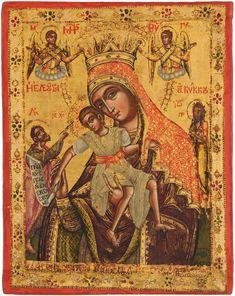 Religious Icons, Religious Art, Greek Icons, Orthodox Icons, Virgin Mary, Our Lady, Madonna, 18th Century, Catholic