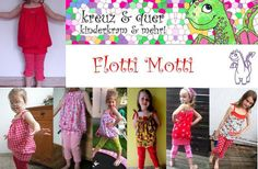 Flotti Motti Schnitt für Mädchen Set - ebook from kreuz & quer - kinderkram & mehr by DaWanda.com