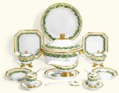 A BERLIN K.P.M BERLIN DINNER SERVICE, CIRCA 1832-35 painted with a border of…