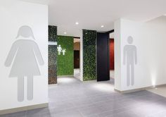 Centrum Černý Most Graphics Office Interior Design, Office Interiors, Wc Sign, Restroom Design, Public Bathrooms, Multipurpose Room, Toilet Design, Ceiling Canopy, Signage Design