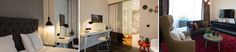 Das in einer Nische stehende Bett wird mit der grauen Vliestapete betont. Klassische Kompositionen wirken stilvoll und zeitlos: In Kombination mit schwarzen Accessoires präsentiert sich der filigrane Schreibtisch samt passendem Stuhl ganz in strahlendem Weiß vor einer ebenfalls weißen Wand. Die bunten, runden und unterschiedlich großen Wandhaken unterstreichen die kreativ-kunstvolle Atmosphäre.    Foto: Simone Ahlers für JOI-Design    #WOHNIDEE #WOHNIDEESuiten #designedbyus #InteriorDesign