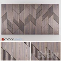 Ideas For Wood Texture Photoshop Wall Wall Panel Design, Feature Wall Design, 3d Max Vray, 3d Wall Panels, Panel Walls, Wall Finishes, Decorative Panels, Wall Patterns, Geometric Patterns