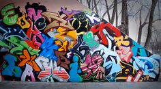 beautiful group of graffiti letters