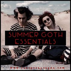 The Spooky Vegan: 20 Summer Goth Essentials to Survive the Sun edition - links to previous years' lists) Dark Fashion, Gothic Fashion, Steampunk Fashion, Emo Fashion, Latex Fashion, Fashion Ideas, Diy Goth Clothes, Dark Summer, Goth Summer