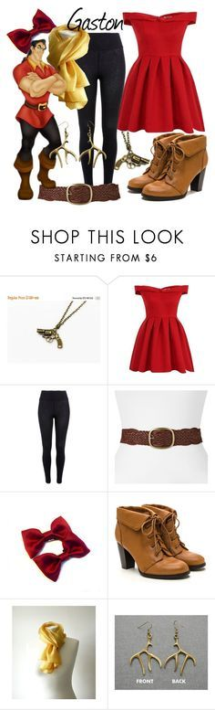 """Gaston (A Disney-Inspired Outfit)"" by one-little-spark ❤ liked on Polyvore featuring River Island, SONOMA Goods for Life, disney and disneybound"