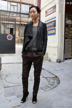Daul Kim + love the pants and shoes.