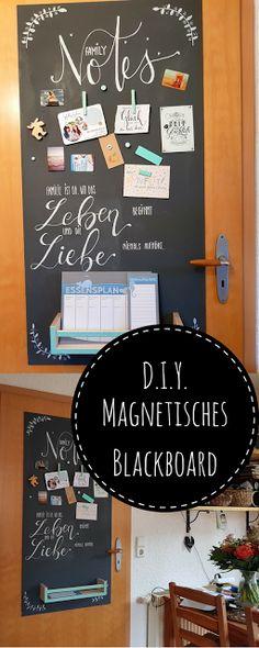 DIY: Magnetisches Blackboard aus Holz