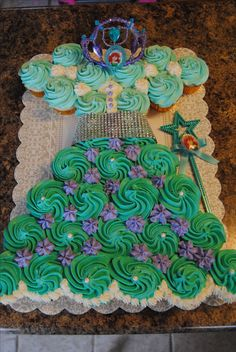 Little Mermaid Cupcake Dress - Contact Hyderabad Cupcakes to order!