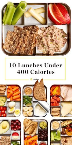 10 Easy Lunch Ideas Under 400 Calories. Need healthy ideas for packing your lunch to take to work? A lot of these are make ahead, some are vegetarian, Most are great eaten cold, and quite a few are…More 6 Mouth Watering Low Carb Lunch Ideas 400 Calorie Lunches, No Calorie Foods, Low Calorie Recipes, Low Calorie Vegetarian Meals, Diet Meals, Low Calorie Easy Meals, 1000 Calorie Diets, Meals Under 400 Calories, Healthy Low Calorie Snacks