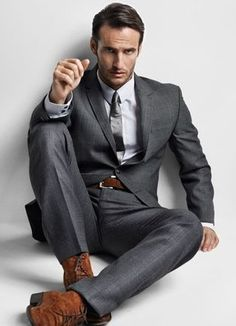 Note yet again how wonderful are brown shoes with a gray suit.