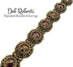 Bejeweled Bracelet & Earrings beaded pattern tutorial by Deb Roberti