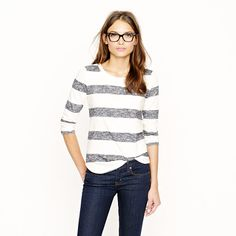 Loomknit Sweatshirt by JCrew - alas, the cool glasses, great hair, and skinny-jeans body are not included!