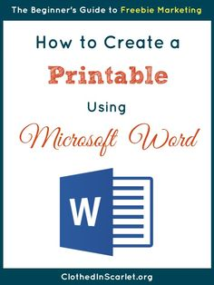 How to Create a Printable Using Microsoft Word