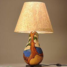 Custom Made Gourd Lamp Arbutus Tree Design
