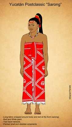 Postclassic Maya Sarong by Kamazotz on DeviantArt Native American Artists, American Indians, Honduras, Outfits For Mexico, Aztec Culture, Third Gender, Indigenous Tribes, Aztec Art, Mesoamerican