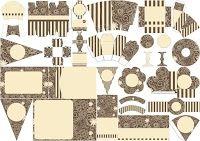 Flores y Curvas: Kit para Imprimir Gratis.