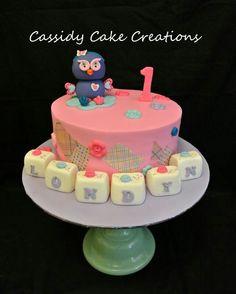 Hootabelle 1st birthday cake