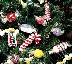 Crochet christmas candy pattern| Crochet christmas ornaments patterns