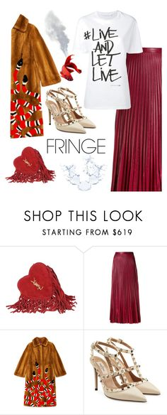 """""""Fringe purse"""" by belen-cool-look on Polyvore featuring moda, Yves Saint Laurent, Golden Goose, Gucci, Valentino y Neil Barrett"""