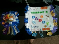Mommy Corsage& Daddy Bib to wear for a Baby Shower