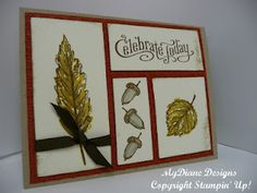MyDiane Designs, Stampin' Up, handmade cards, cards, Gently Falling, Perfectly Penned