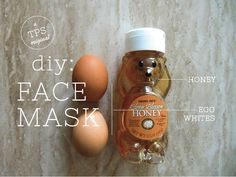 DIY Firming Face Mask with honey & egg white