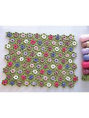 New Crochet Patterns - Floral Baby Blanket pattern download from Annie's Craft Store. Order here: https://www.anniescatalog.com/detail.html?prod_id=130223&cat_id=468