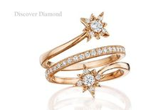 Certified 1 Tcw Round Cut Diamond Engagement Star Band Ring Solid 14k Rose Gold #DiscoverDiamond #Band #Engagement