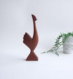 Gallo sueco madera de teca // Moderno Suecia por tiendanordica