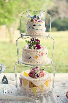 Like the idea of separate cakes.