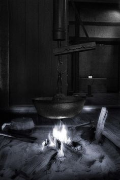 Japanese old open hearth