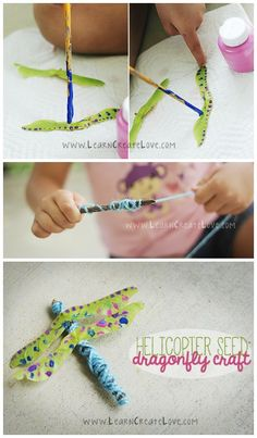 Helicopter Seed Dragonfly craft ~ Nature craft for kids