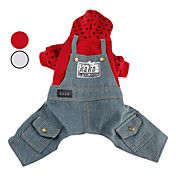 Spotted Hoodie with Denim Overalls for Dogs (... – USD $ 12.79