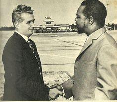 Nicolae Ceausescu with Bokassa (Bucharest)