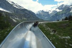 Want to experience the thrill of racing down a mountain, without getting on skis? Then this alpine slide is exactly what you're looking for. Tin toboggans are all the rage in Switzerland, and can be found in over 24 locations, some seasonal, some open all year round. Tracks are usually around 1 kilometer (0.62 miles) in length, and you can reach up to 40 kilometers (25 miles) per hour.