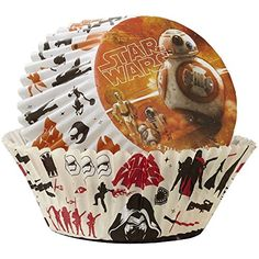 Star Wars Disposable Cupcake Liners and Toppers  50 Baking Cups and 24 Fun Pix Toppers ** You can get more details by clicking on the affiliate link Amazon.com.